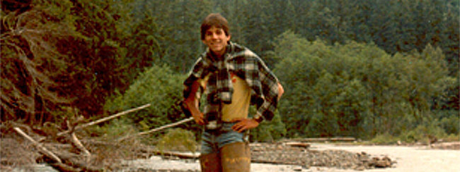 George Thomas Jr. along the banks of the Queets River in Olympic National Forest